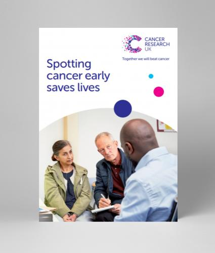 A5leaflet covering cancer screening and the importance of early diagnosis